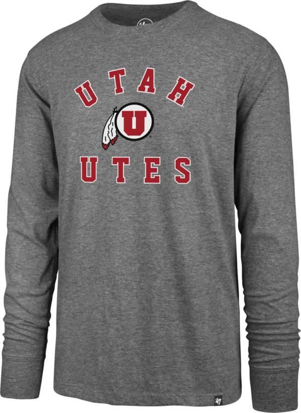 '47 Men's Utah Utes Grey Super Rival Long Sleeve T-Shirt product image
