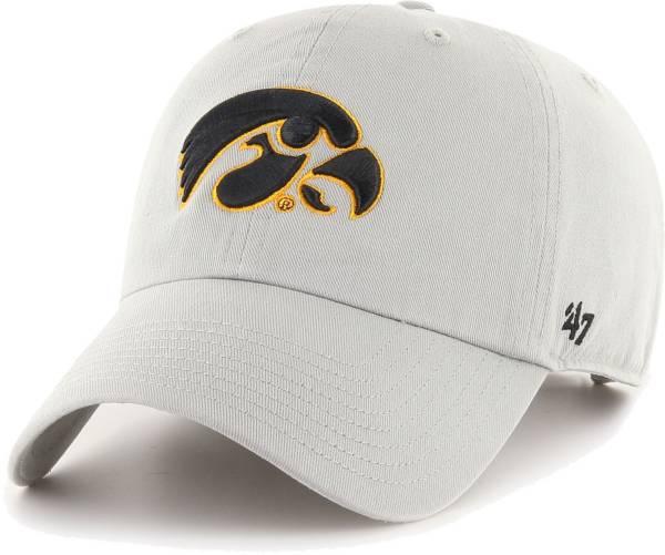'47 Men's Iowa Hawkeyes Grey Clean Up Adjustable Hat product image