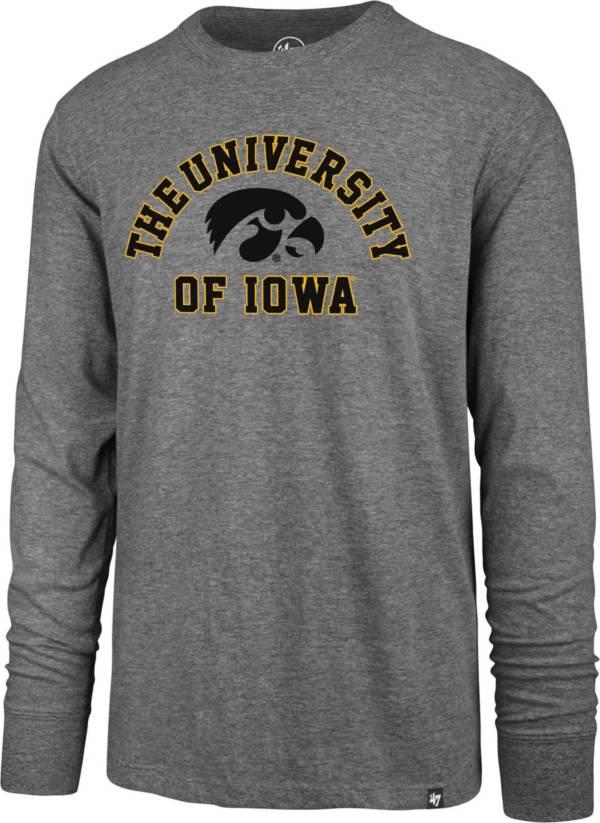 '47 Men's Iowa Hawkeyes Grey Super Rival Long Sleeve T-Shirt product image