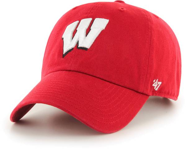 '47 Men's Wisconsin Badgers Clean Up Red Adjustable Hat product image