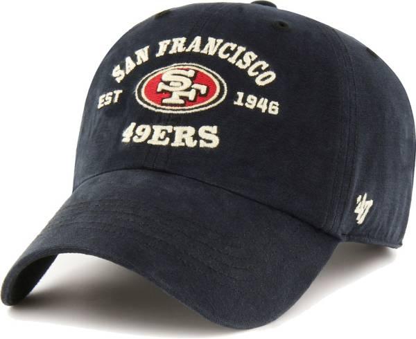 '47 Men's San Francisco 49ers Black Reign Brockman Adjustable Hat product image