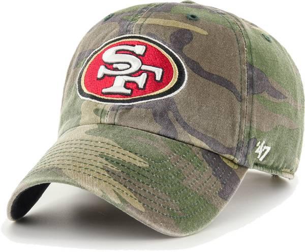 '47 Men's San Francisco 49ers Camo Adjustable Clean Up Hat product image