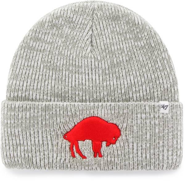 '47 Men's Buffalo Bills Grey Brain Freeze Cuffed Knit Beanie product image