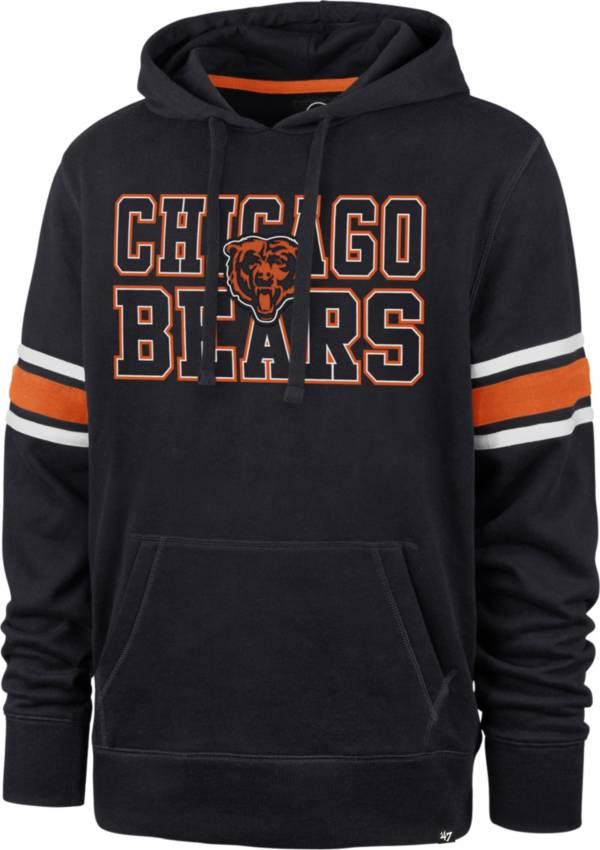 '47 Men's Chicago Bears Navy Stripe Hoodie product image