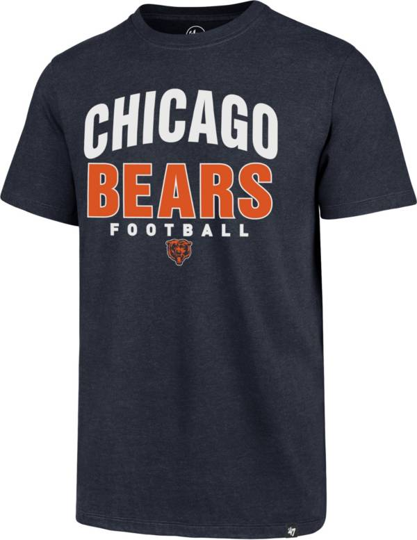 '47 Men's Chicago Bears Navy Trackdown Club T-Shirt product image