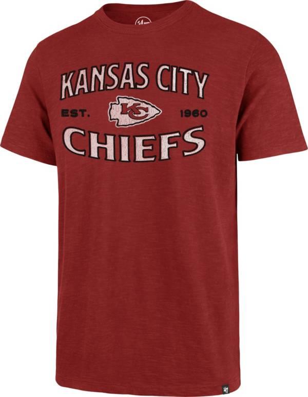 '47 Men's Kansas City Chiefs Red Offset Scrum T-Shirt product image