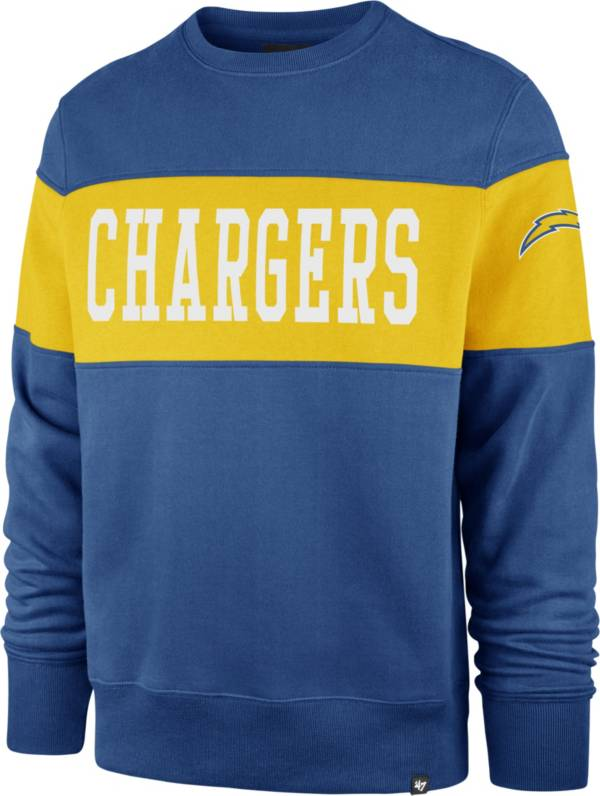 '47 Men's Los Angeles Chargers Blue Interstate Crew Sweatshirt product image