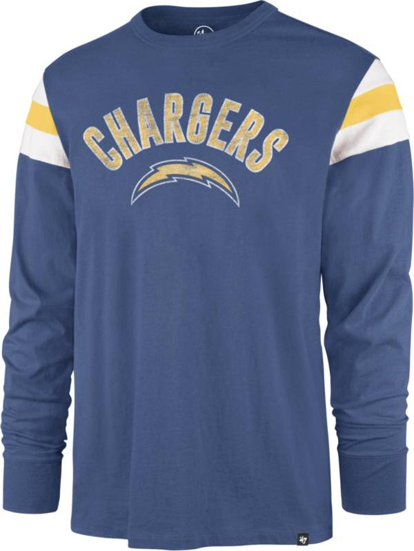'47 Men's Los Angeles Chargers Blue Rooted Long Sleeve T-Shirt product image