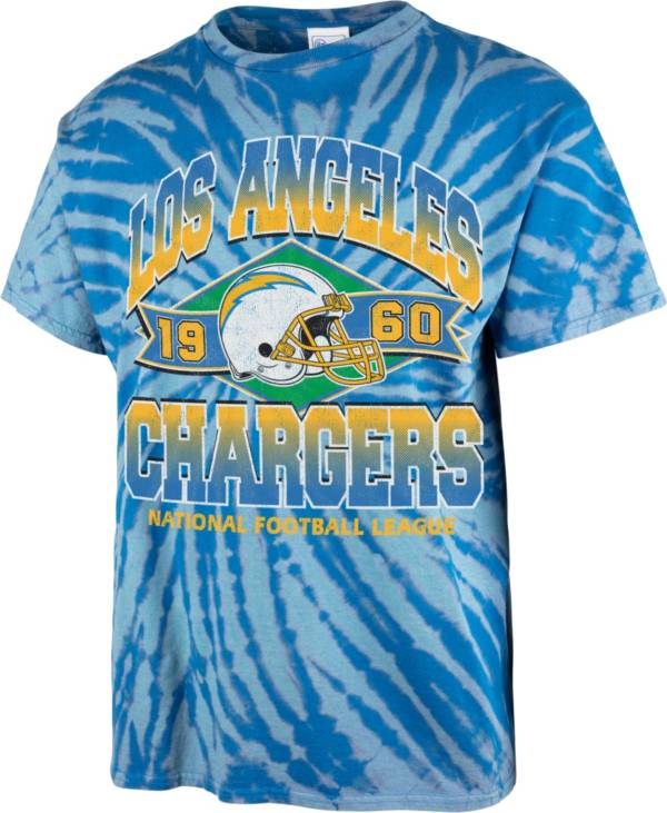 '47 Men's Los Angeles Chargers Tie Dye Tubular T-Shirt product image