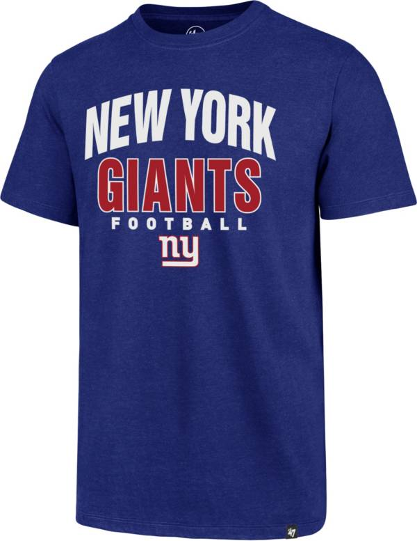 '47 Men's New York Giants Royal Trackdown Club T-Shirt product image
