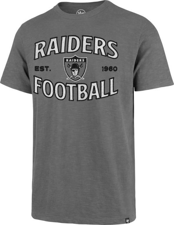 '47 Men's Las Vegas Raiders Grey Offset Scrum T-Shirt product image