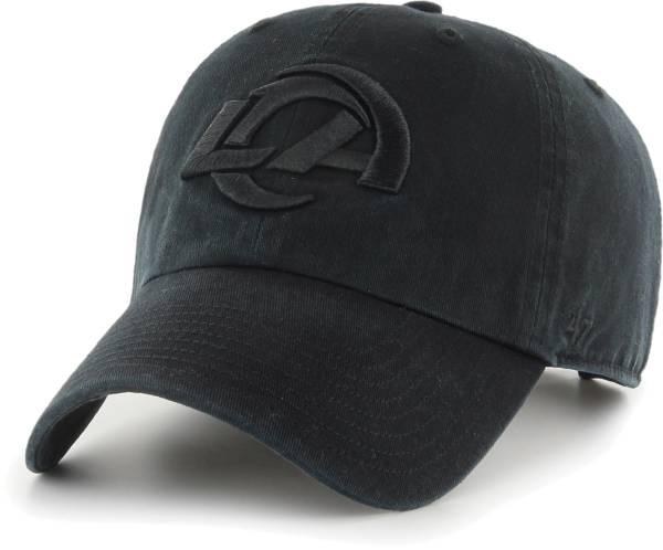 '47 Men's Los Angeles Rams Clean Up Adjustable Black Hat product image