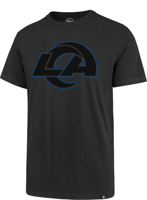 '47 Men's Los Angeles Rams Black Logo Rival Anthracite T-Shirt product image