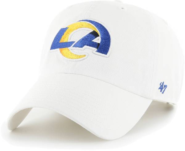 '47 Men's Los Angeles Rams Clean Up Adjustable White Hat product image
