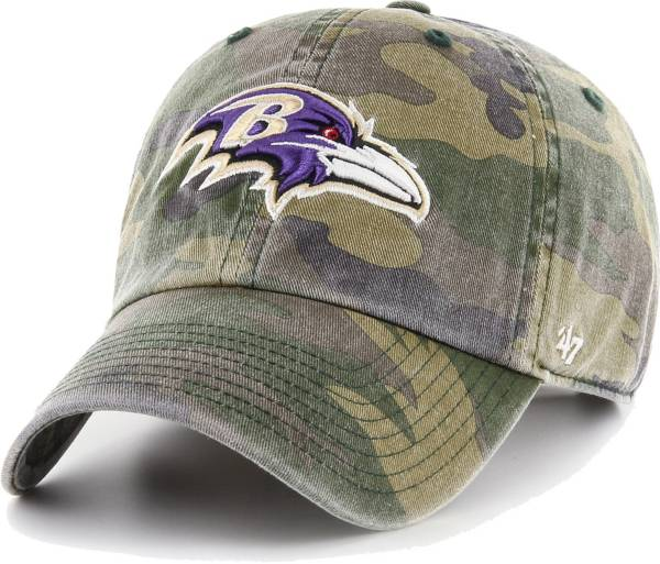 '47 Men's Baltimore Ravens Camo Reign Clean Up Adjustable Hat product image
