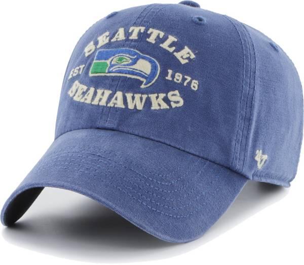 '47 Men's Seattle Seahawks Royal Brockman Throwback Adjustable Hat product image