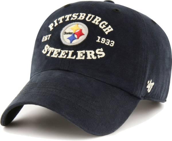 '47 Men's Pittsburgh Steelers Black Reign Brockman Adjustable Hat product image