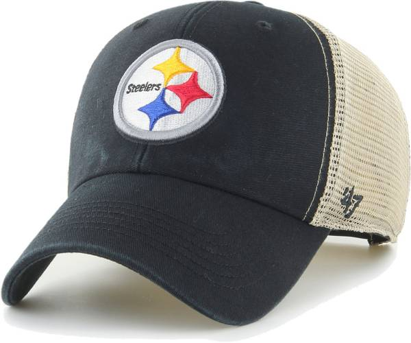 '47 Men's Pittsburgh Steelers Black Flagship MVP Adjustable Hat product image