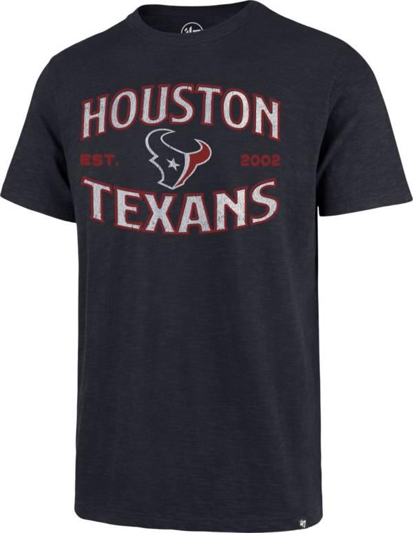 '47 Men's Houston Texans Navy Offset Scrum T-Shirt product image