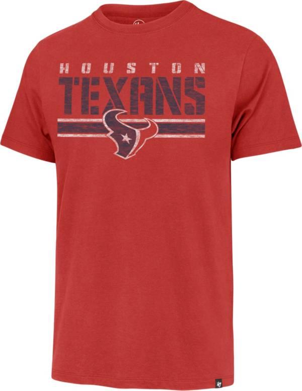 '47 Men's Houston Texans Red Franklin Stripe T-Shirt product image