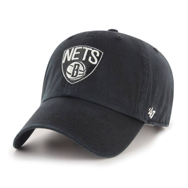 '47 Men's Brooklyn Nets Black Clean Up Adjustable Hat product image