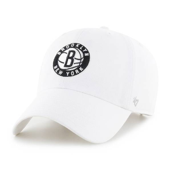 '47 Men's Brooklyn Nets White Clean Up Adjustable Hat product image