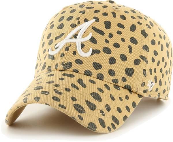 '47 Women's Atlanta Braves Tan Cheetah Print Clean Up Adjustable Hat product image