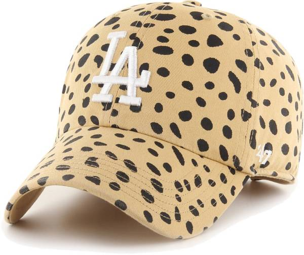 '47 Women's Los Angeles Dodgers Tan Ceetah Print Clean Up Adjustable Hat product image
