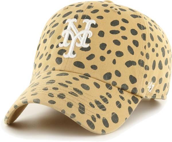 '47 Men's New York Mets Tan Cheetah Clean Up Adjustable Hat product image