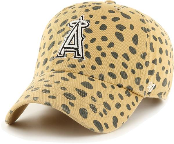 '47 Women's Los Angeles Angels Tan Cheetah Print Clean Up Adjustable Hat product image