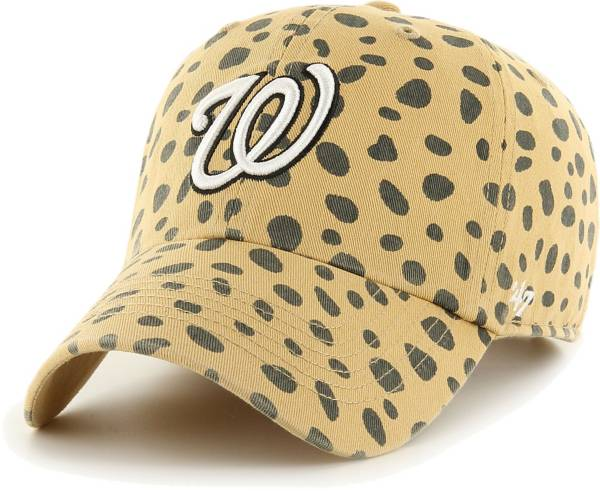'47 Women's Washington Nationals Tan Cheetah Print Clean Up Adjustable Hat product image