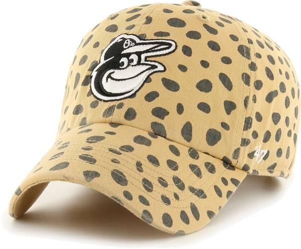 '47 Women's Baltimore Orioles Tan Ceetah Print Clean Up Adjustable Hat product image
