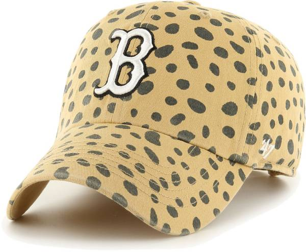 '47 Women's Boston Red Sox Tan Cheetah Print Clean Up Adjustable Hat product image