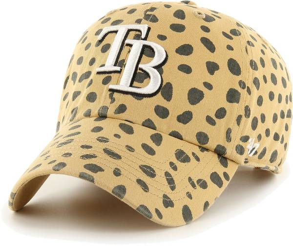 '47 Women's Tampa Bay Rays Tan Cheetah Print Clean Up Adjustable Hat product image