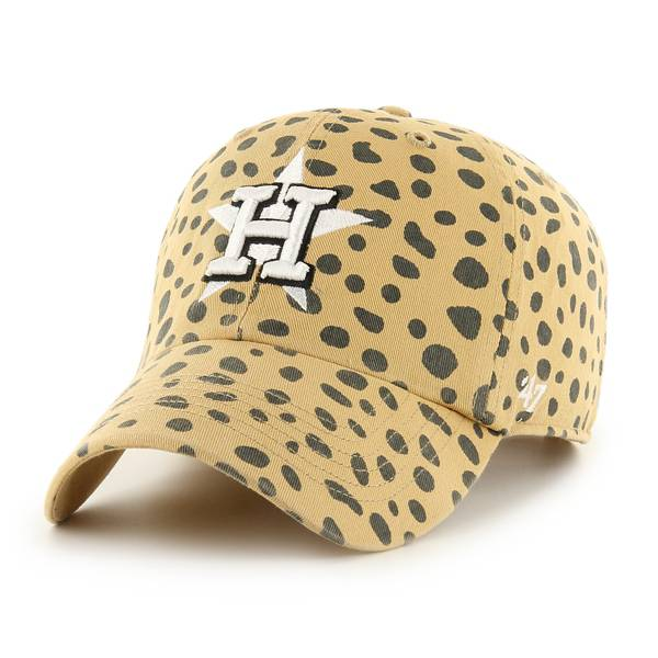 '47 Women's Houston Astros Tan Cheetah Print Clean Up Adjustable Hat product image