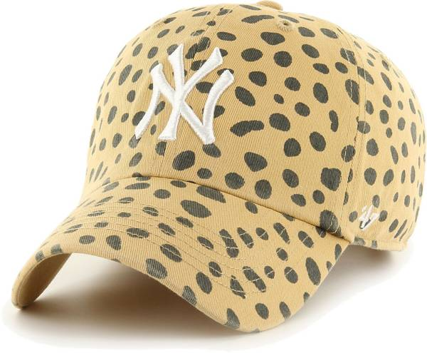 '47 Women's New York Yankees Tan Cheetah Print Clean Up Adjustable Hat product image