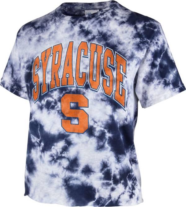 '47 Women's Syracuse Orange Blue Cropped Tie-Dye T-Shirt product image