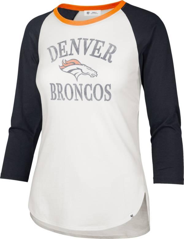 '47 Women's Denver Broncos White Long Sleeve Raglan T-Shirt product image