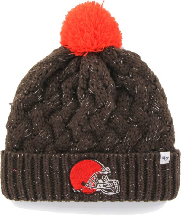 '47 Women's Cleveland Browns Brown Cuffed Fiona Knit Beanie product image