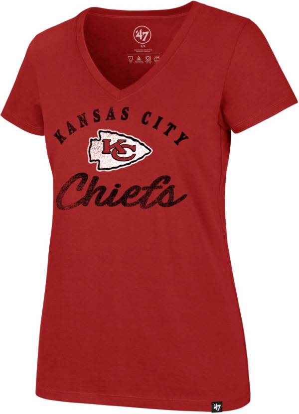 '47 Women's Kansas City Chiefs Red Script Rival V-Neck T-Shirt product image