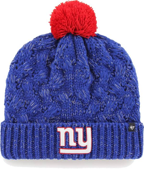 '47 Women's New York Giants Royal Cuffed Fiona Knit Beanie product image