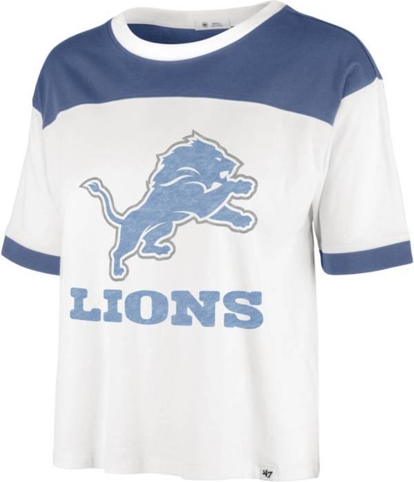 '47 Women's Detroit Lions White Billie Cropped T-Shirt product image
