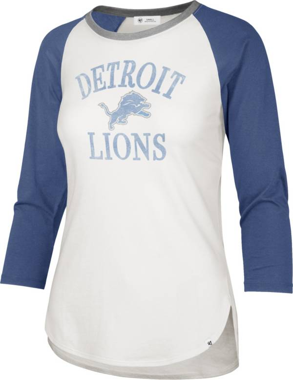 '47 Women's Detroit Lions White Long Sleeve Raglan T-Shirt product image