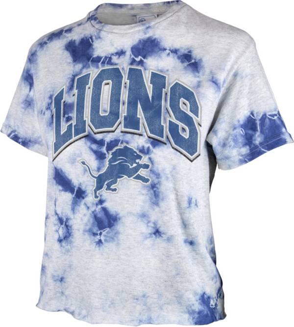 '47 Women's Detroit Lions Tie Dye Tubular Cropped Tie Dye T-Shirt product image