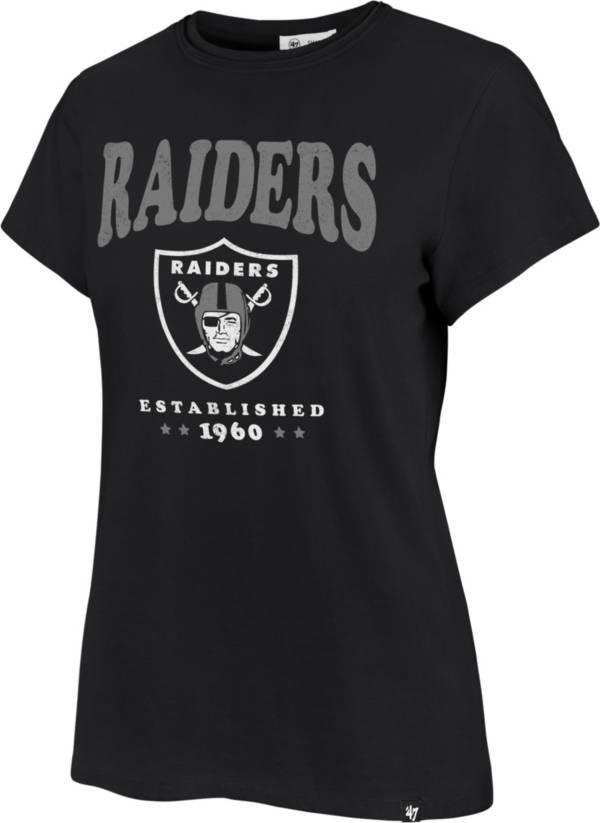 '47 Women's Las Vegas Raiders Rally Cry Throwback Black T-Shirt product image