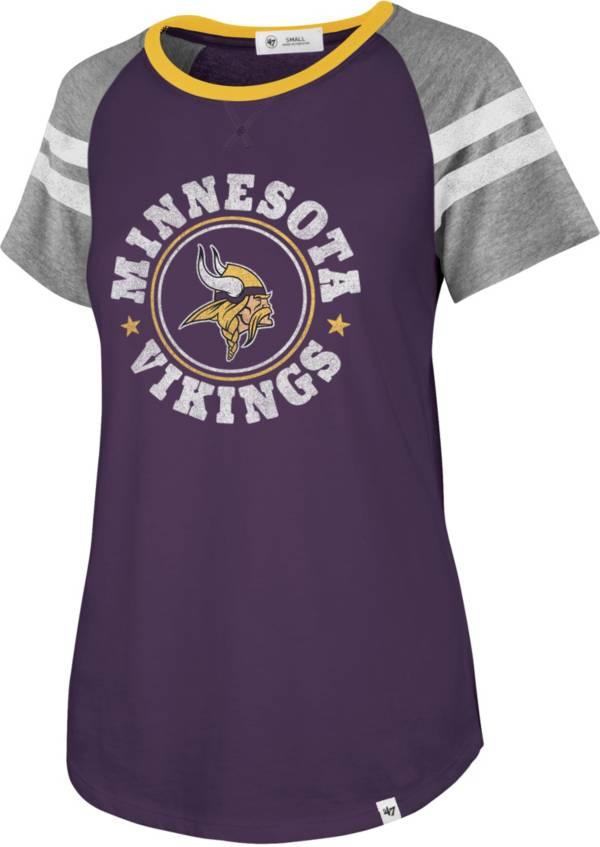'47 Women's Minnesota Vikings Static Purple Raglan T-Shirt product image
