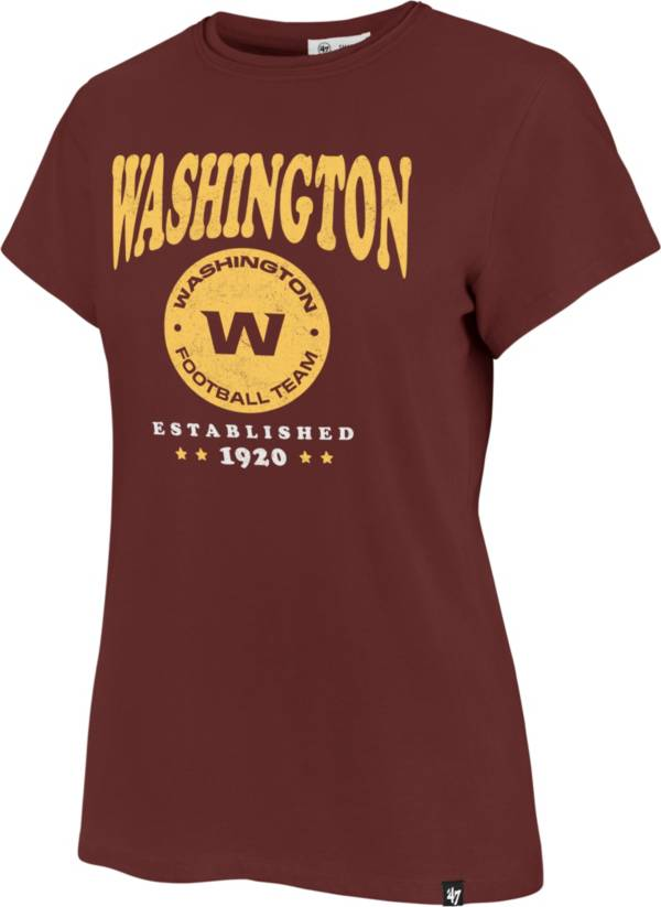 '47 Women's Washington Football Team Rally Cry Throwback Red T-Shirt product image
