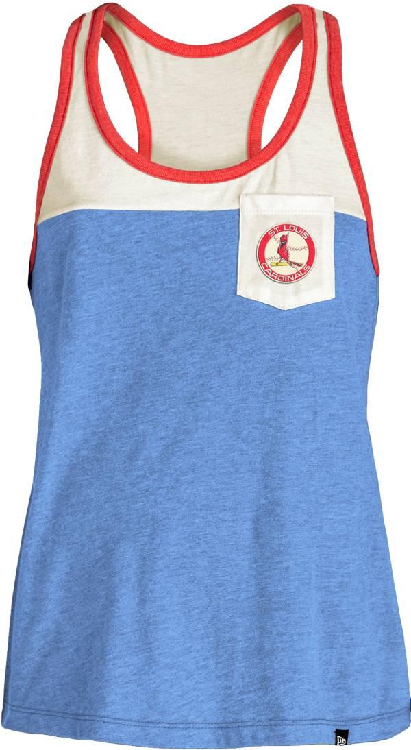 New Era St. Louis Cardinals Blue Tri-Blend Tank Top product image