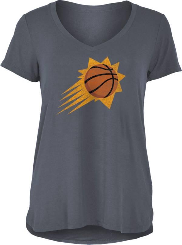 5th & Ocean Women's Phoenix Suns Grey V-Neck T-Shirt product image