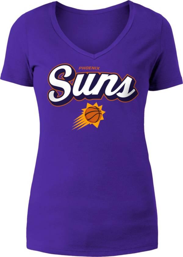 5th & Ocean Women's Phoenix Suns Purple V-Neck T-Shirt product image